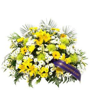 Comprar centro funerario tonos amarillos y claros G1