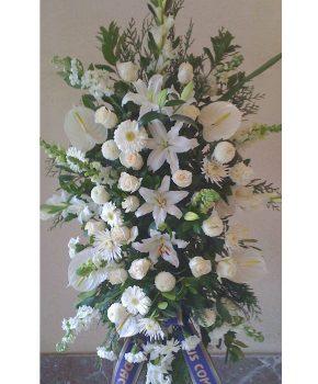 Comprar palma funeraria blanca armonía G12