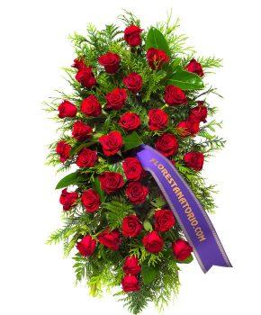 Comprar palma rosas rojas detalle verdes G4