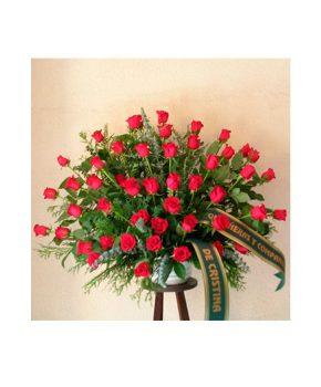 Comprar centro funerario rosas rojas G7