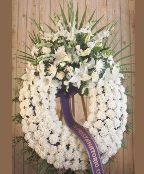 Comprar corona funeraria blanca sencilla K4