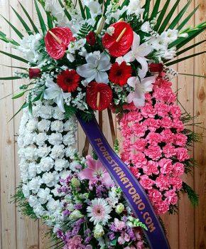 Comprar corona funeraria claveles colores k3