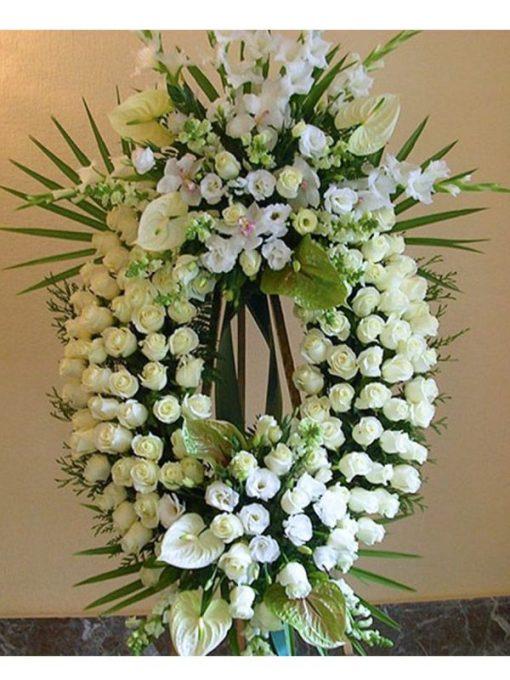 mejor corona de flores gran lujo