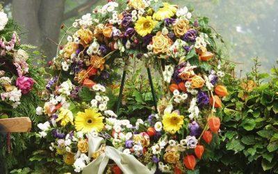 El significado de las flores de funeral